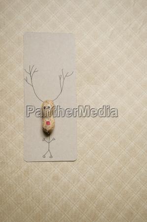 self made christmas card with peanut