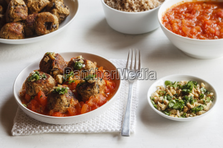 plate of aubergine oat balls with