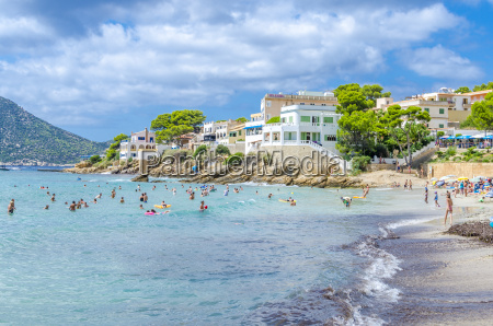 spain mallorca view to beach of