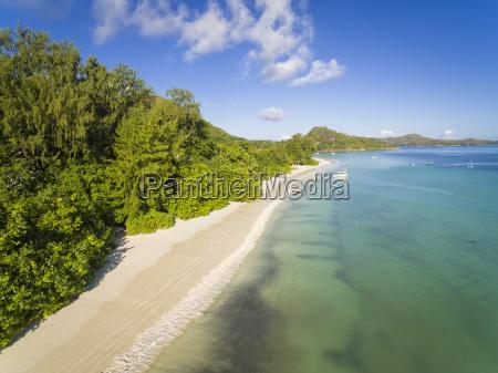 seychelles praslin anse lazio aerial view