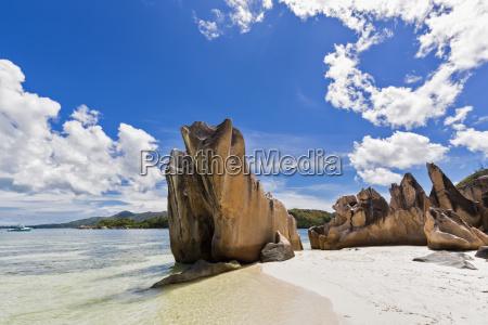 seychelles praslin curieuse island beach with