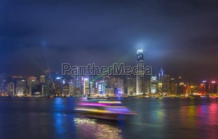 china hong kong victoria harbour at