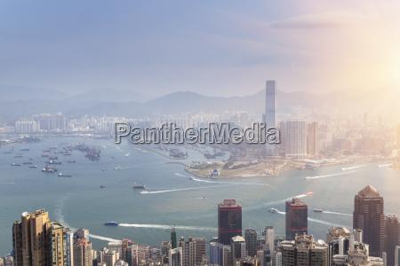 china hong kong victoria harbour and