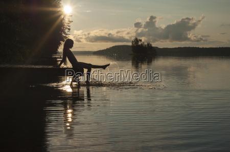 finland karelia uukuniemi lake pyhaejaervi girl