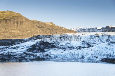iceland view to vatnajokull at vatnajokull
