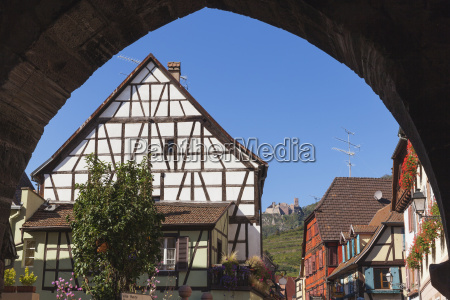 france alsace alsatian wineroute ribeauville view