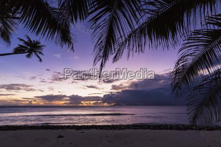 seychelles silhouette island beach anse lascars