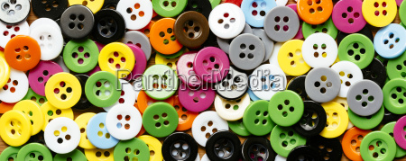 collection of colourful plastic buttons