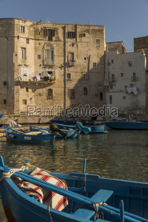 italy apulia monopoli harbour and fishing