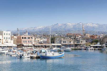 greece crete harbour of chania