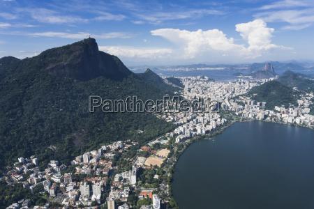 brazil aerial view of rio de