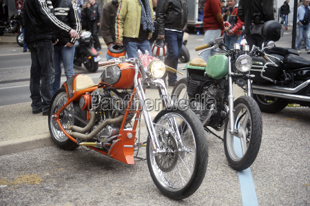 a group of motorcycles from a