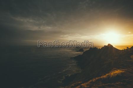 france brittany pointe du raz sunset