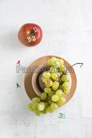 apple and green grapes different vitamins