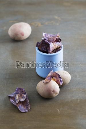 potato chips made of purple potatoes