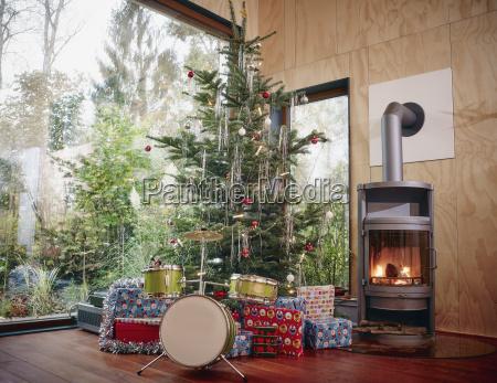christmas presents under christmas tree next