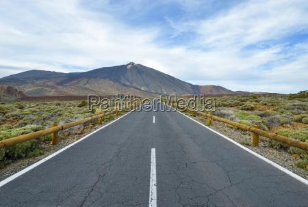 spain canary islands tenerife road in