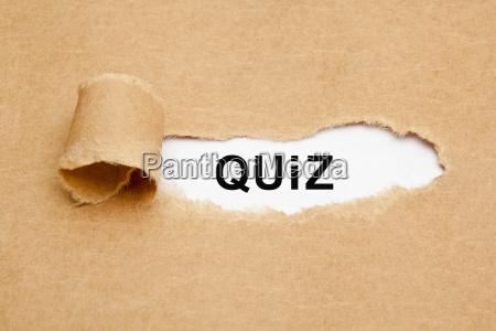 quiz torn paper concept