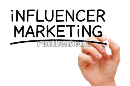 influencer marketing black marker