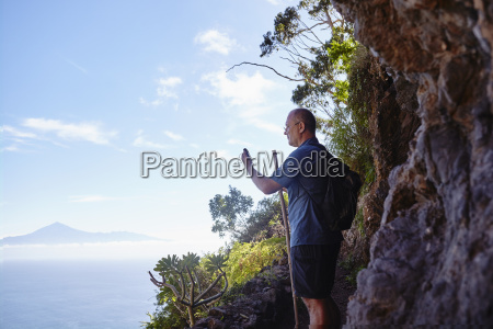spain canary islands la gomera hiker