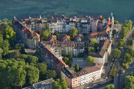 germany lake constance aerial view konstanz