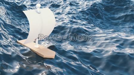 3d rendering sailing boat