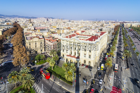 spain barcelona cityscape as seen from