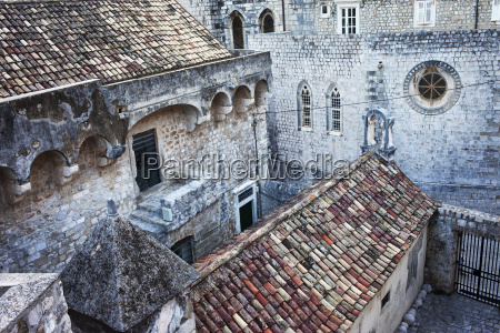 croatia dalmatia dubrovnik old town historic