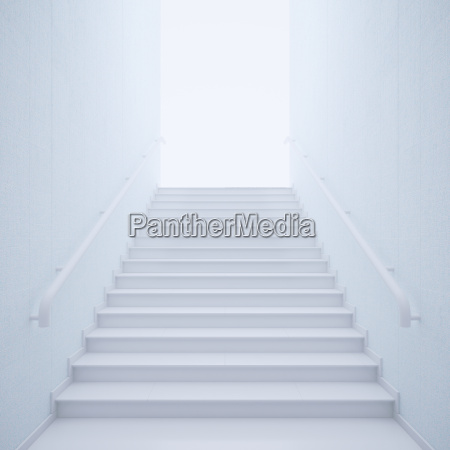 3d rendering staircase bright upwards