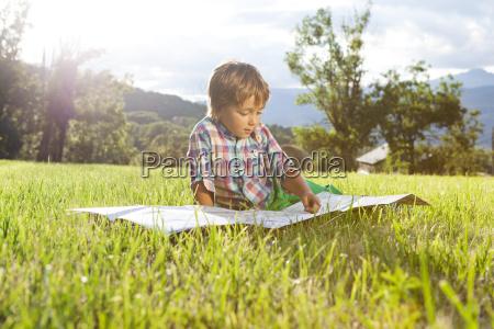 spain cerdanya little boy on a