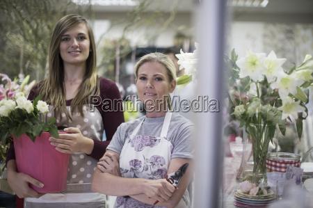 portrait of two florists in flower