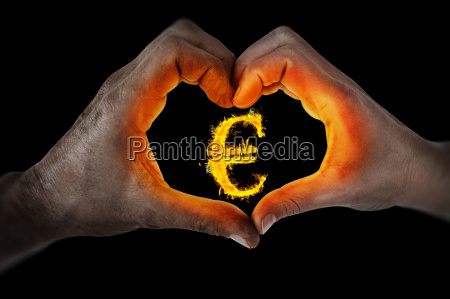 composite image of couple making heart