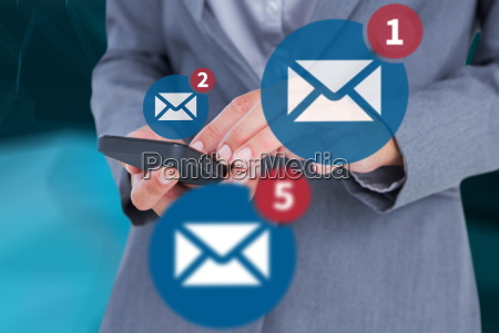 composite image of businesswoman calling
