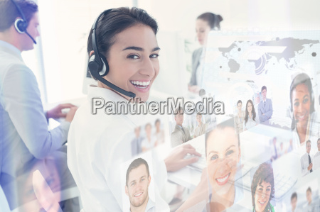 composite image of business people working