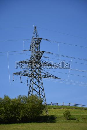 high voltage line high voltage mast