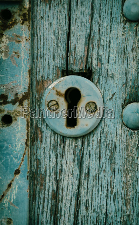 vintage keyhole in a old door