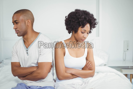 upset couple not talking after argument