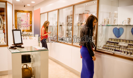 two women in jeweler shop