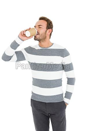 happy young man in winter wear