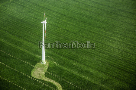 high angle view of wind turbine