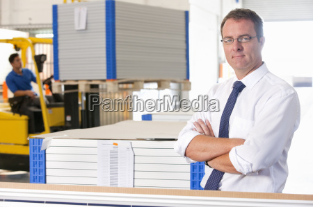 portrait of businessman looking at camera