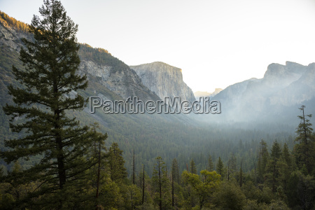 view of yosemite valley from tunnel