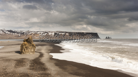 the sands at reynisfjara seen from