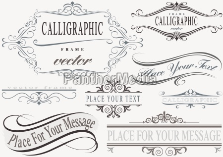 calligraphic frame set