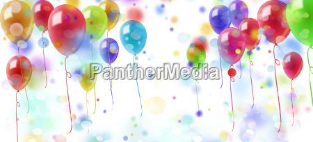 balloons confetti colorful