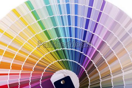color palette catalog with design paint