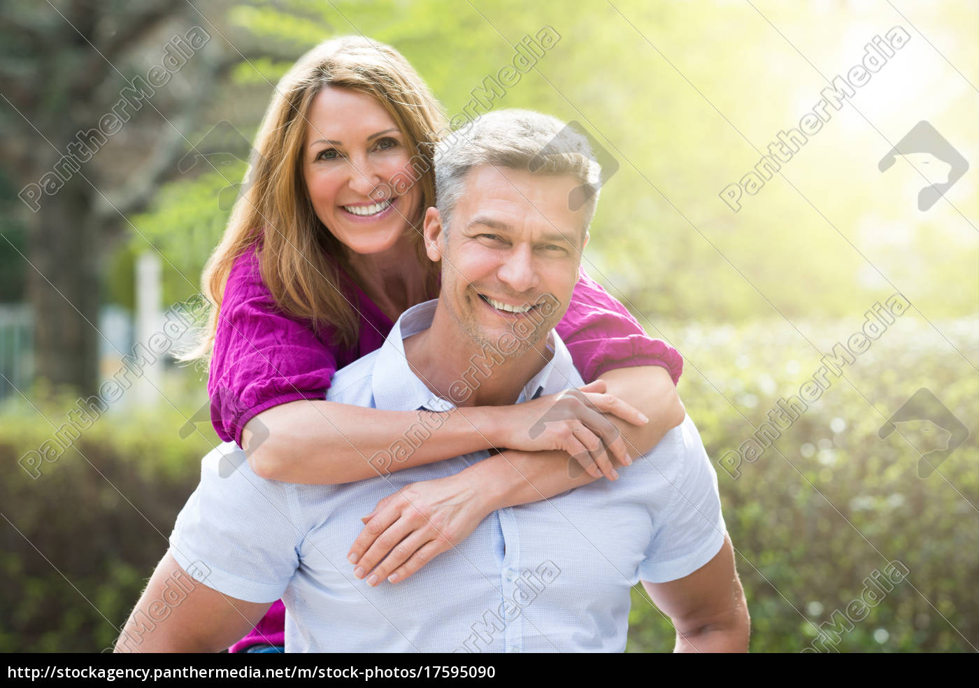 portrait, of, happy, couple - 17595090