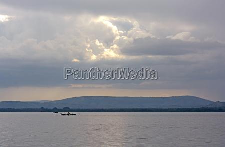 fisherman on a remote lake at