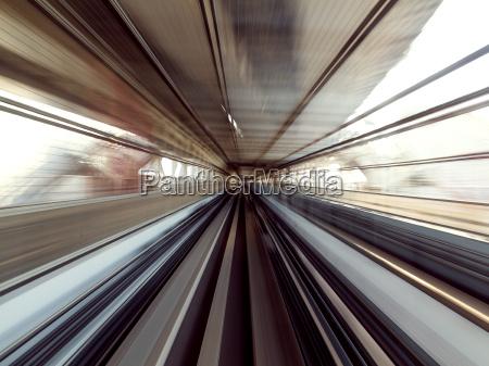 motion blur of japanese railway