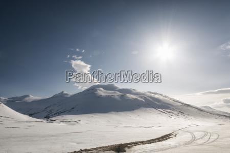 winter landscape at myvatn iceland